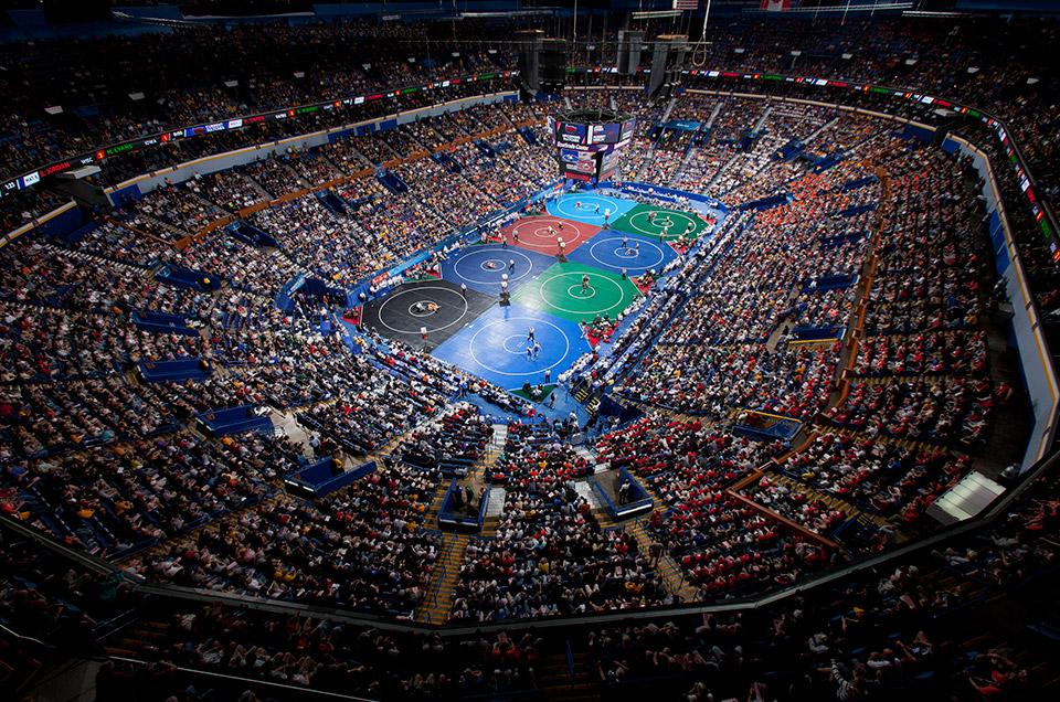Championship wrestling stadium